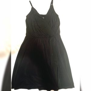 Spaghetti strap black dress with v-neck!
